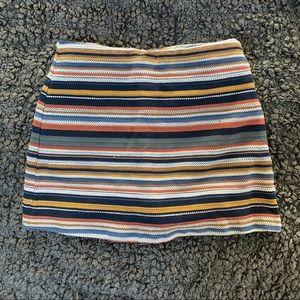 Zara Trafaluc Multi Colored Striped Skort